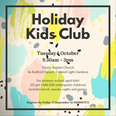 oct holiday kids club