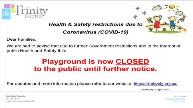 Playground Closure sign(2)