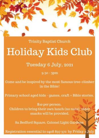 holiday kids club july